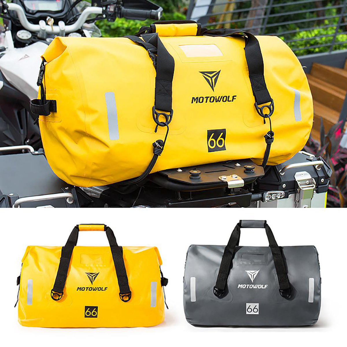 40L/66L/90L Motorcycle Touring Waterproof Dry Luggage Bag Motorbike Roll Pack Outdoor