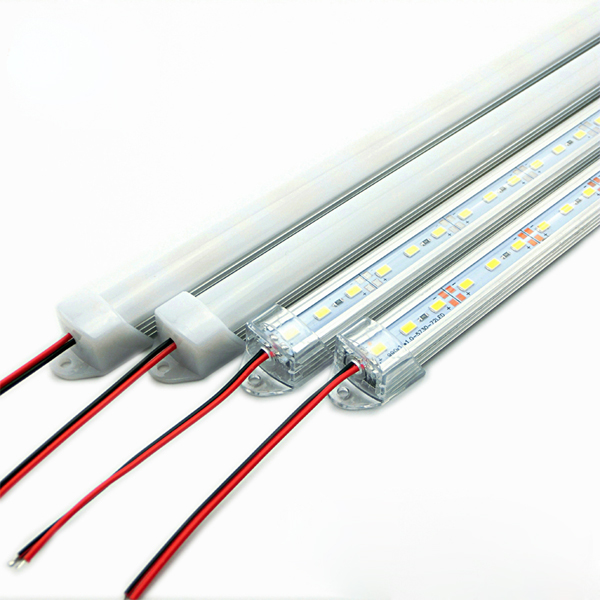 50CM SMD 5730 36 LED Rigid Strip Tube Bar Light Lamp With U Aluminium Shell + PC Cover DC12V