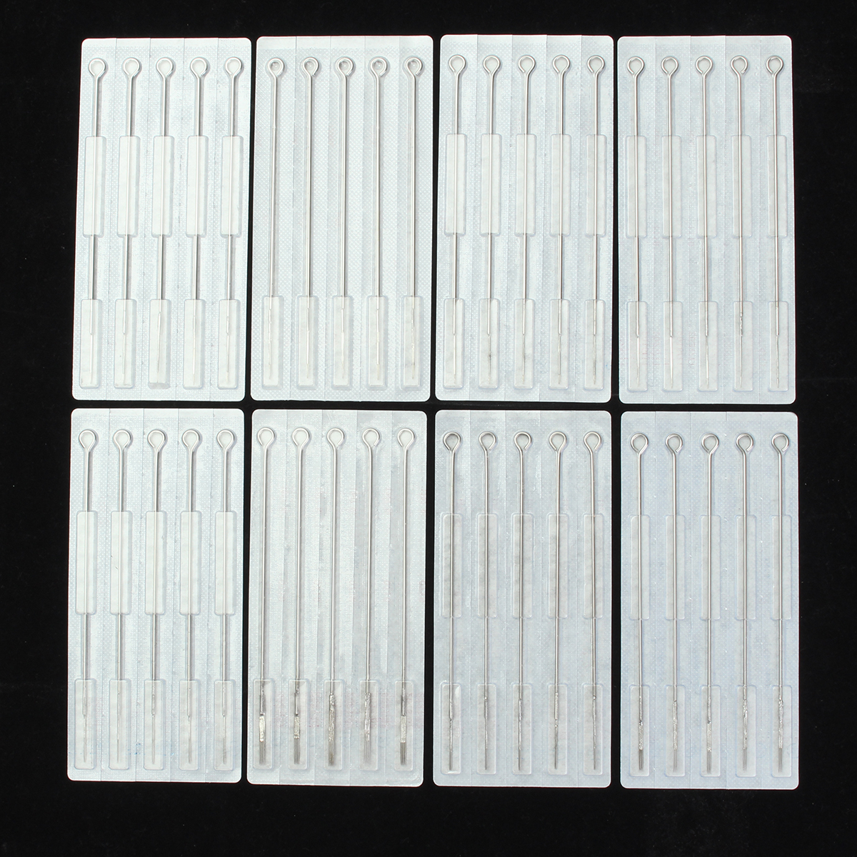 100Pcs Mix Sizes Sterile Disposable Tattoo Accessories Needles 3 5 7 9 RL 5 7 9 RS M1 Size