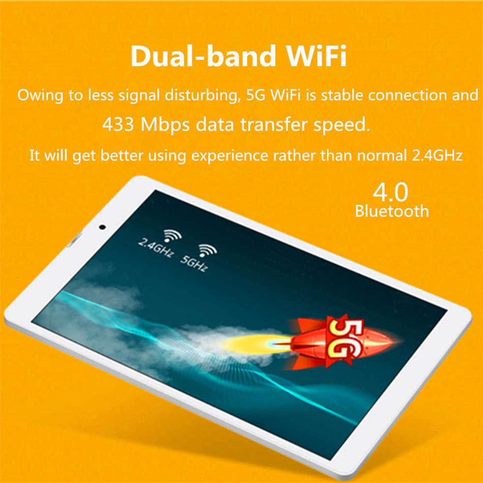 Original Box Binai G808pro 32GB MediaTek MT6753 Octa Core 8 Inch Android 7.0 Dual 4G Tablet Gold