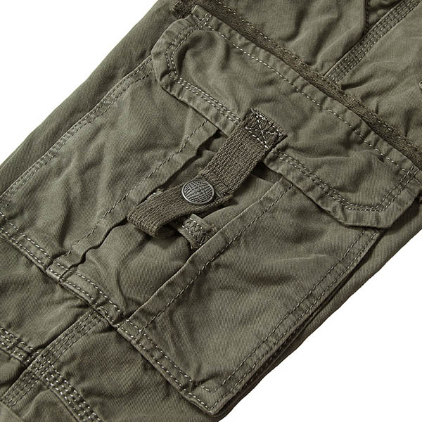 Men Loose Military Cargo Pants Multi Pockets Mountaineering Long Trousers Straight Leg Pants