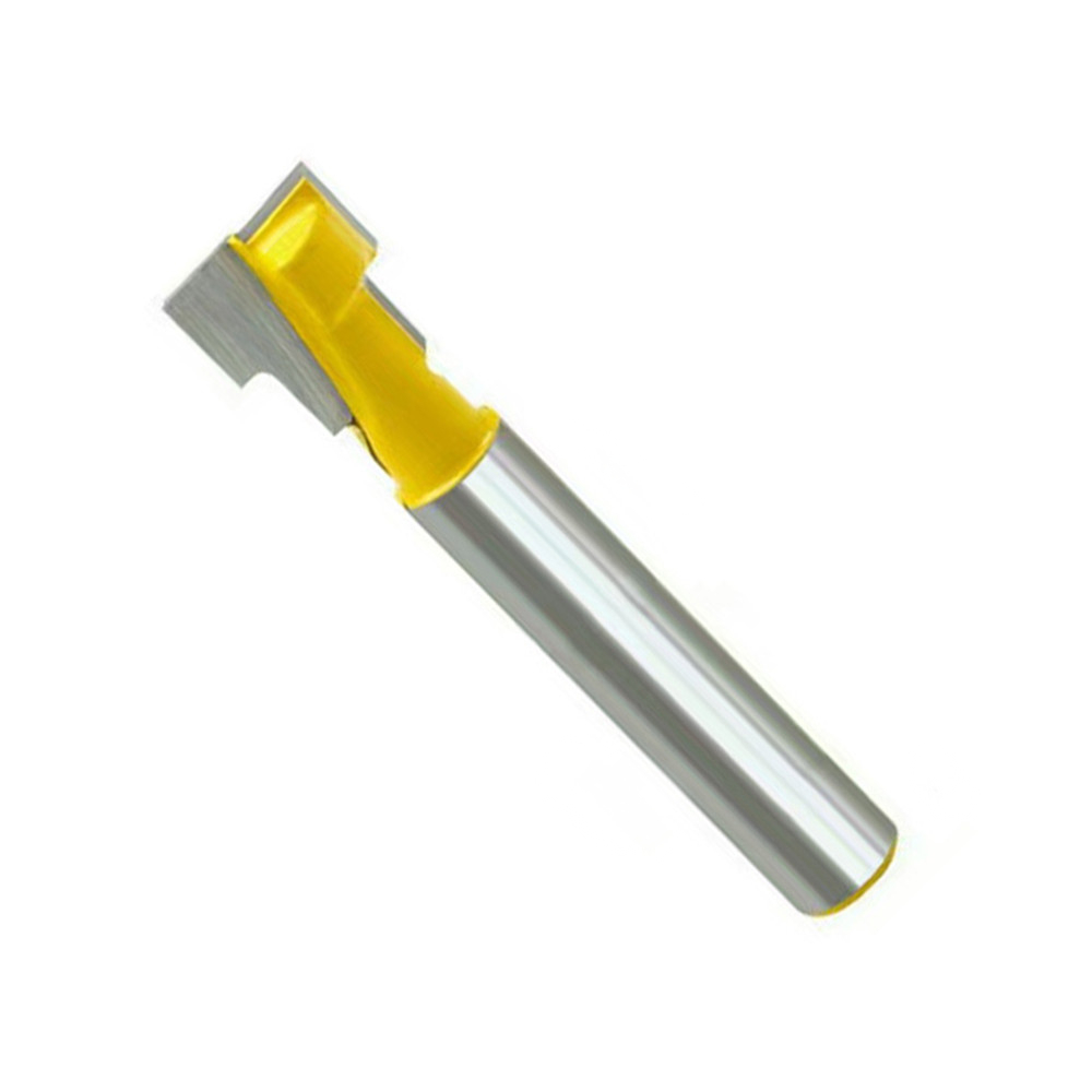 8mm Shank T-Slot Cutter Router Bit For 1/4 Inch Hex Bolt Woodworking Keyhole Tool