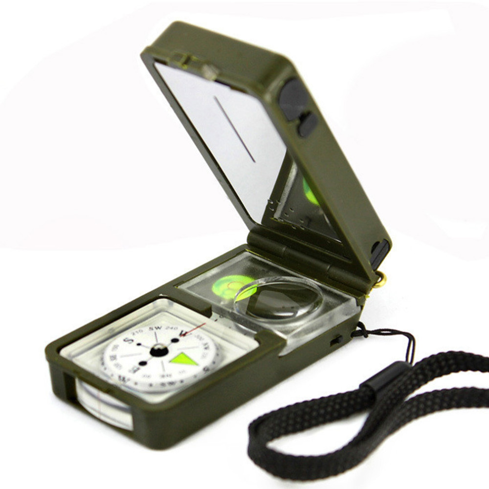 10 In 1 Multifunctions Compass With Led Light Whistle Magnifying Glass Thermometer Hygrometer