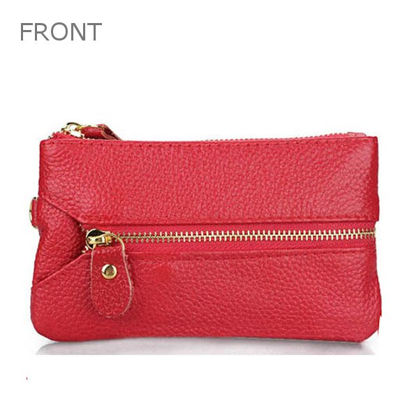 Women Genuine Leather Long Wallet Elegant Card Holders Coin Bags Keychain Clutches