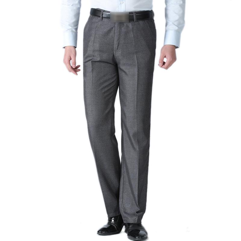 Mens Loose Thin Full Length Zipper Fly Pants