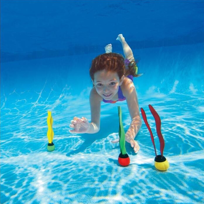 3Pcs Lot Children Water Toys Sctivity Scuba Diving Seaweed Seagrass Swimming Pool
