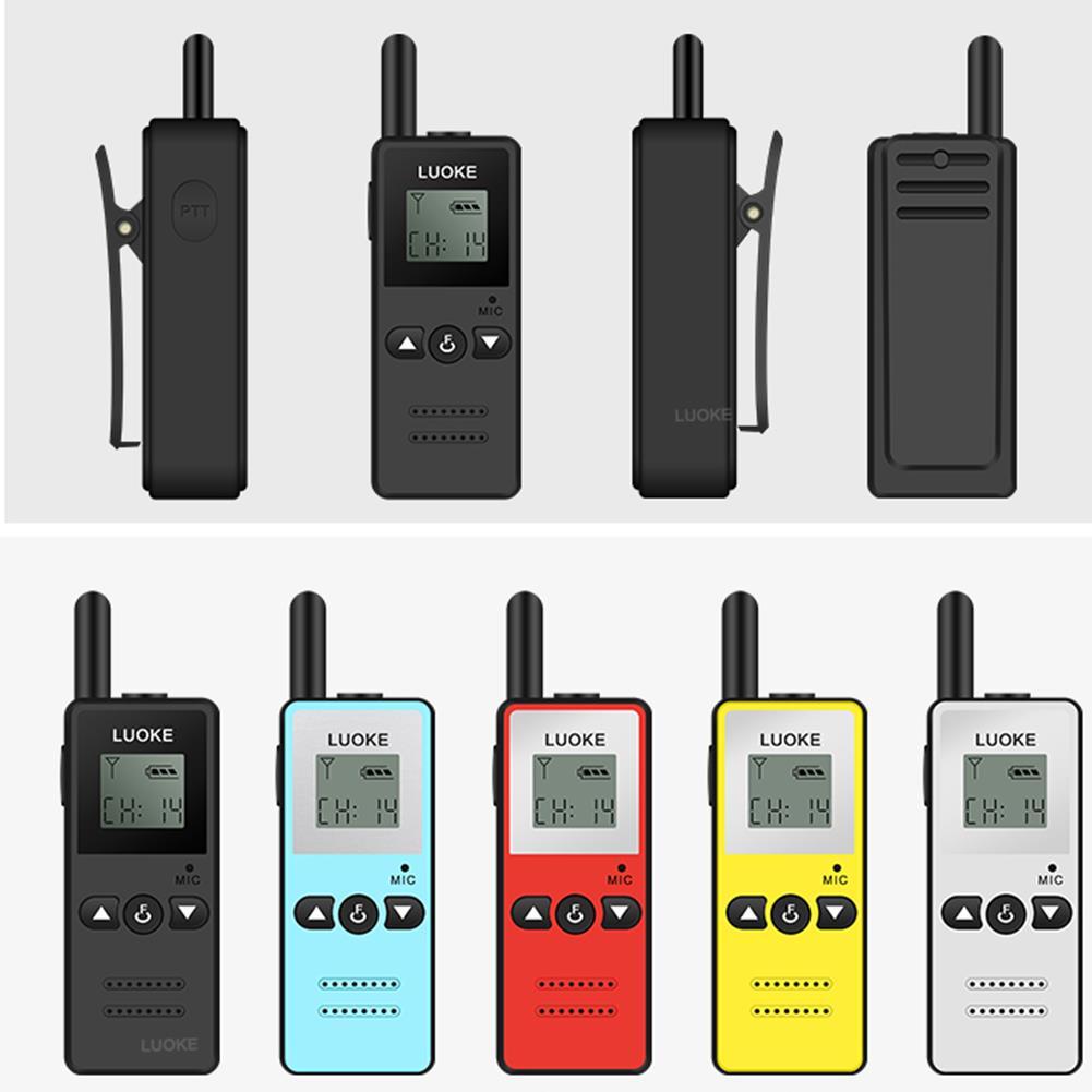 KALAOD V-8 Mini Walkie Talkie Intercom 16 Channel 400-470MHz FM Transceiver One Way Radio For Hotel