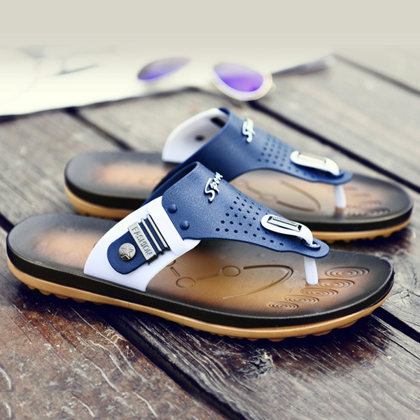 Men Summer Outdoor Beach Home Casual Comfortable Soft Flip Flop Flat Slipper Shoes