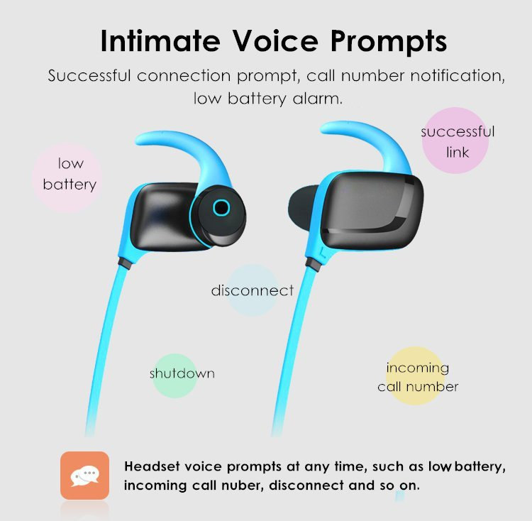 H919 Portable Wireless bluetooth Earphone IPX4 Waterproof Sports Noise Cancelling Earphone With Mic