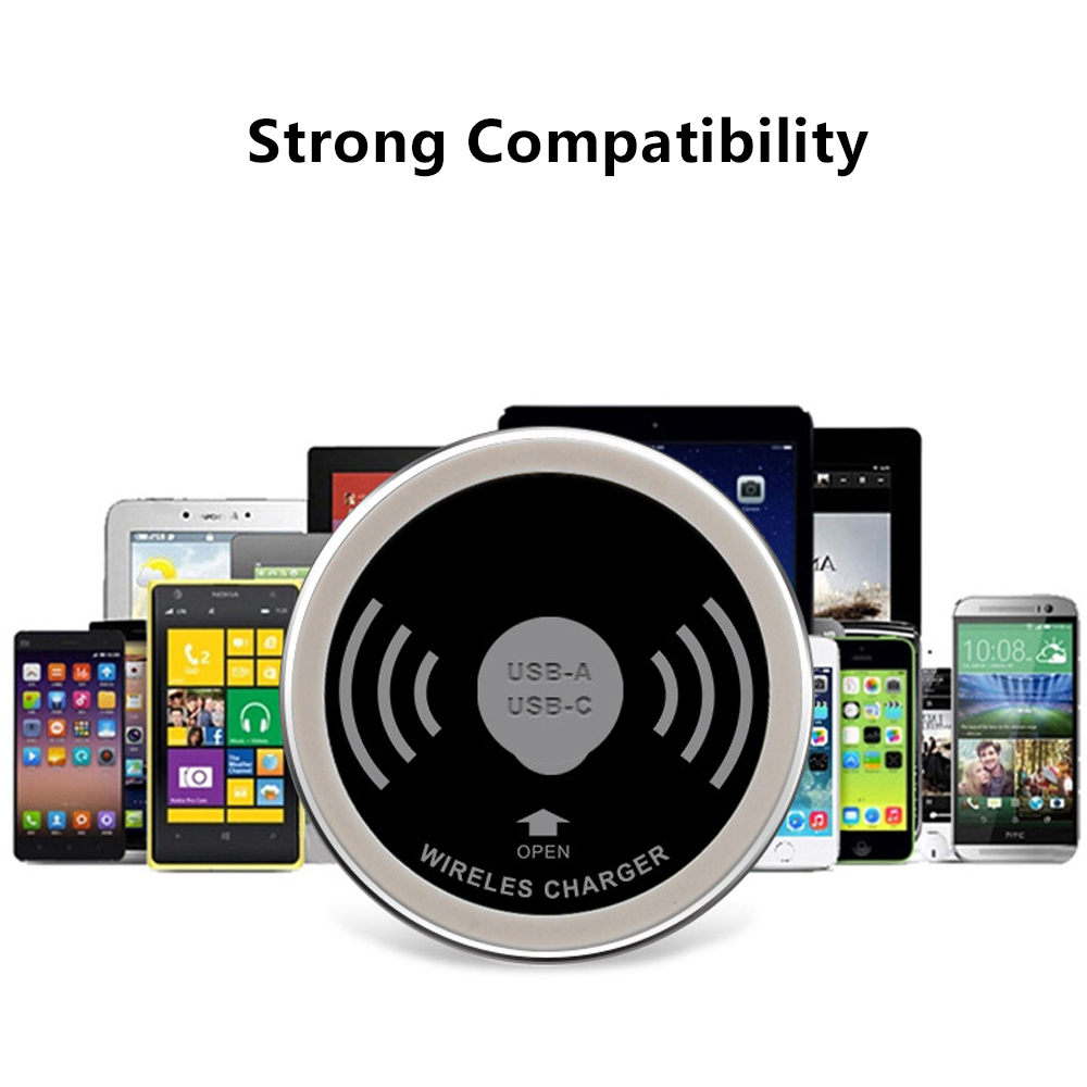 Bakeey Embedded Desktop USB Qi Wireless Charger For Smart Phone Tablet