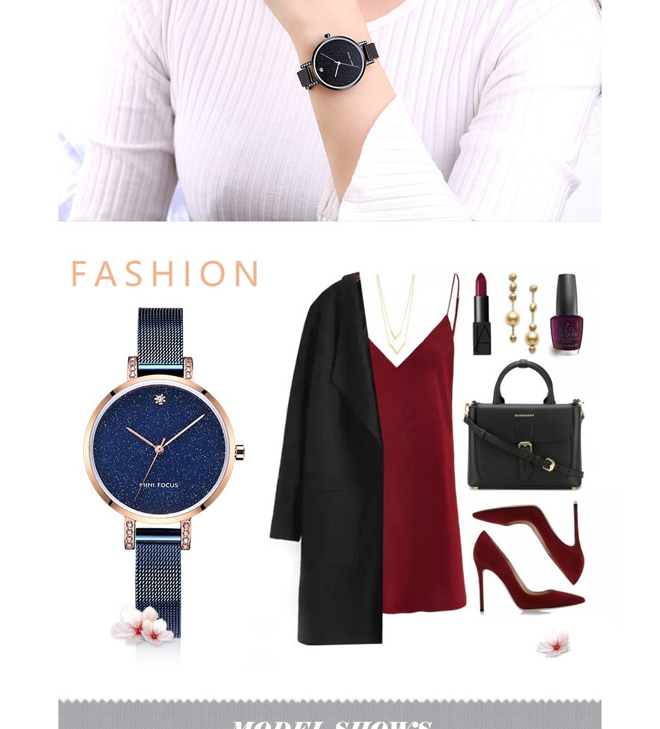 MINI FOCUS MF0160L Crystal Casual Style Women Watches