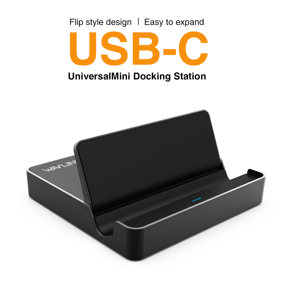 Wavlink Universal Mini Docking Station With 2 Type-c 2 USB 3.0 HDMI and Power Delivery