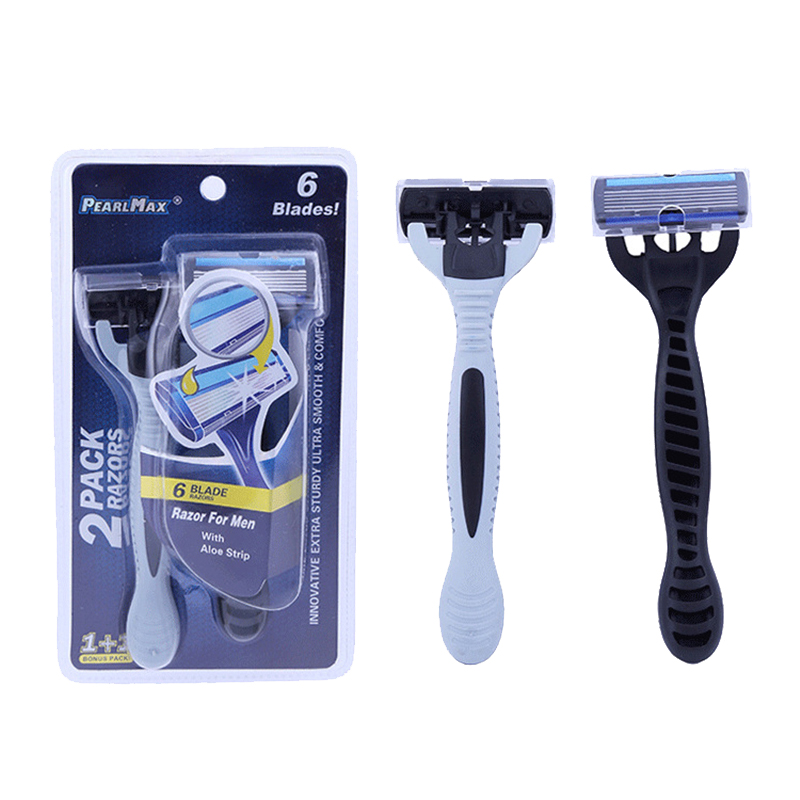 PearlMax Unisex 6 Layers Sharp Blade Shaver Razor Face
