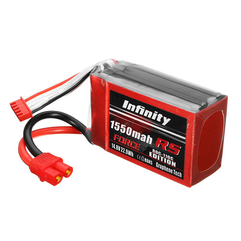 AHTECH Infinity Graphene 14.8V 1550mAh 80C 4S RS FORCE EDITION Lipo Battery SY60 Plug