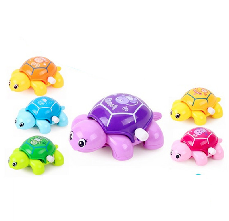 Cute Cartoon Animal Clockwork Turtle Mini Crawling Wind Up Kids Educational Classic Toy Random Color