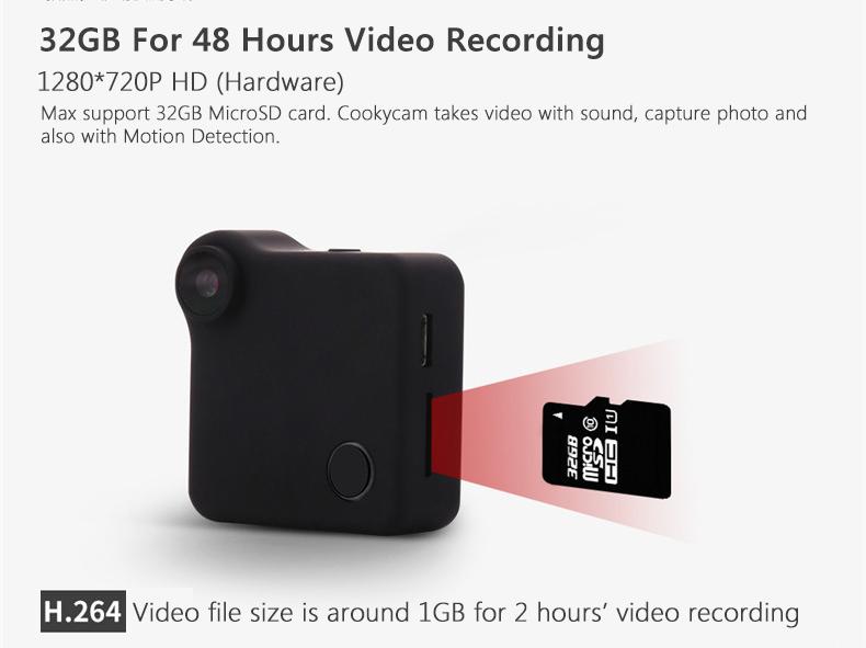 XANES C1 720P HD Mini Wifi Camera Vlog Camera for Youtube Recording Loop Record FPV Camera IP Camera Wearable Body Camera
