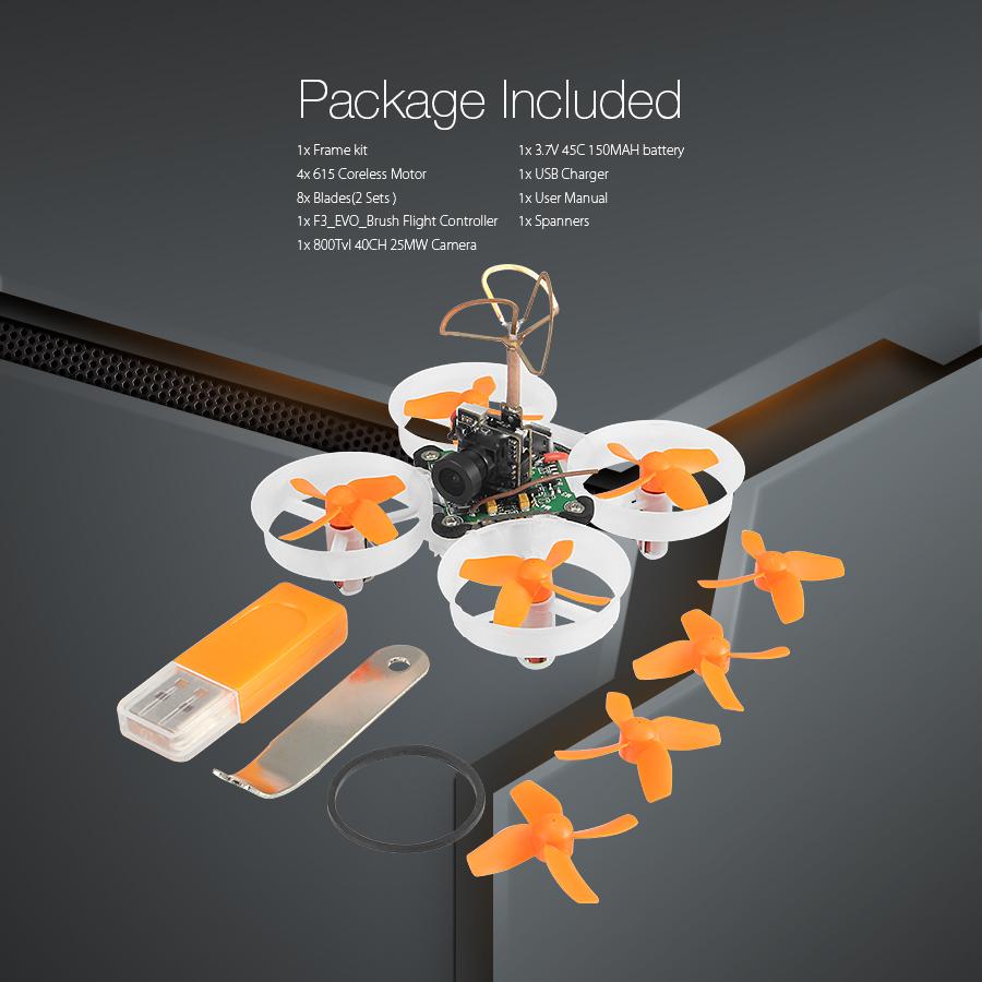 Eachine E010S 65mm Micro FPV RC Drone Quadcopter 800TVL CMOS Based On F3 Brush Flight Controller