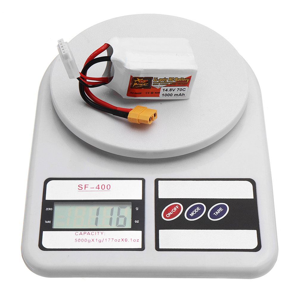ZOP POWER 14.8V 1000mAh 70C 4S Lipo Battery With XT60 Plug For RC FPV Racing - Photo: 8