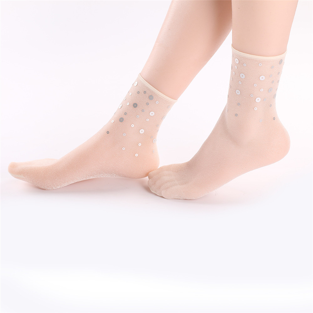 Women Breathable Ultra Thin Middle Tube Socks