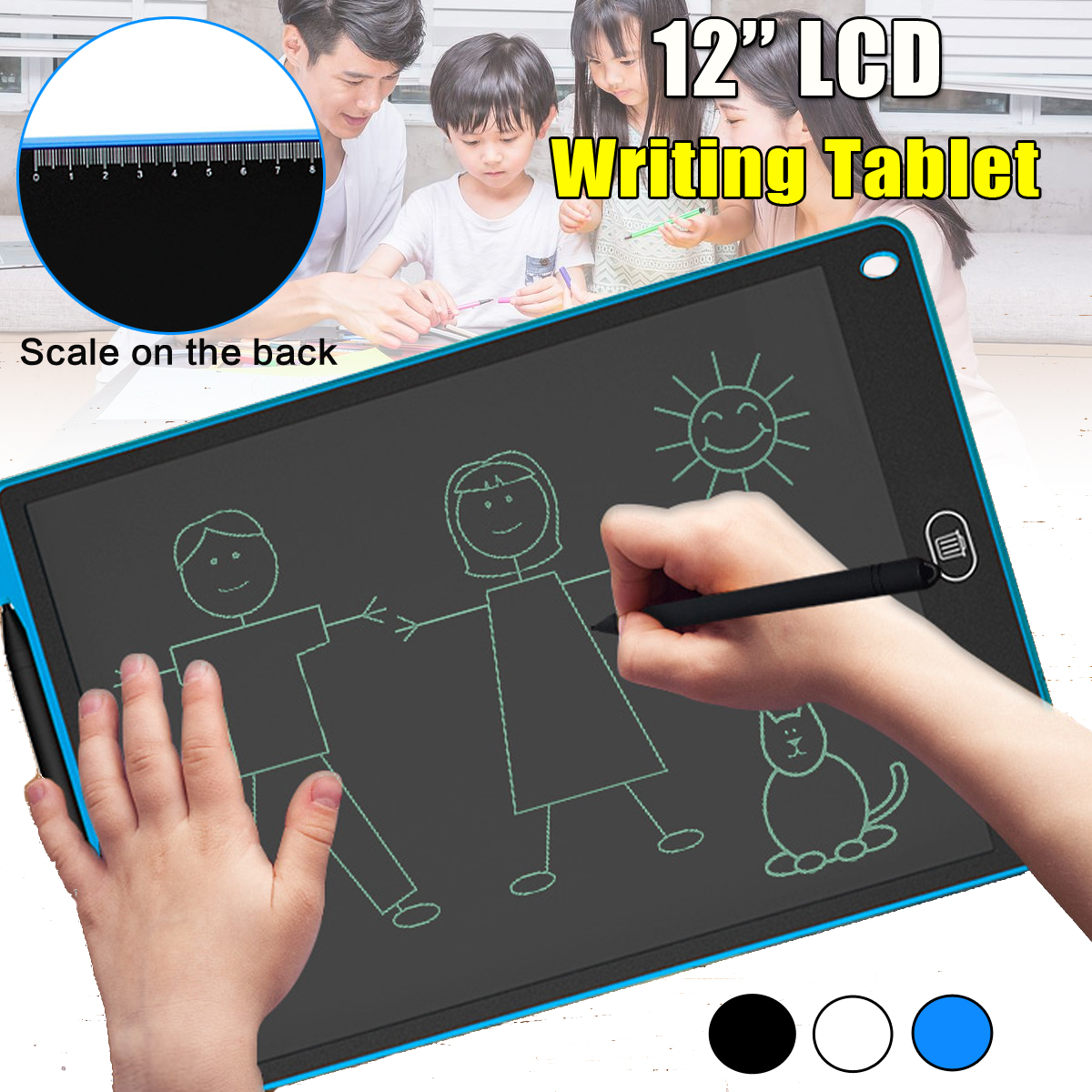 12'' LCD Writing Tablet Painting Board Notepad Children Board Office Notepad Tablet Screen protector