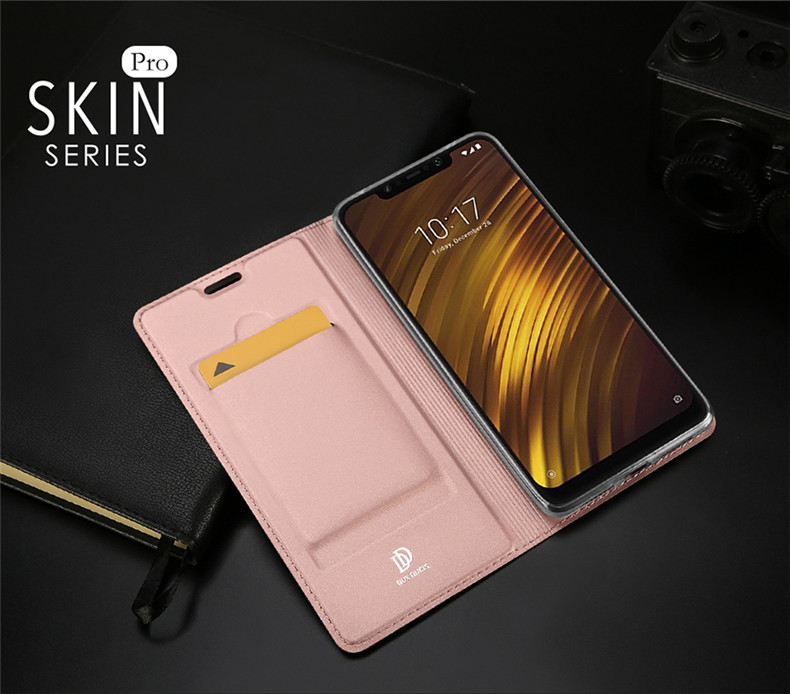 DUX DUCIS Shockproof Flip PU Leather Full Cover Protective Case for Xiaomi Pocophone F1