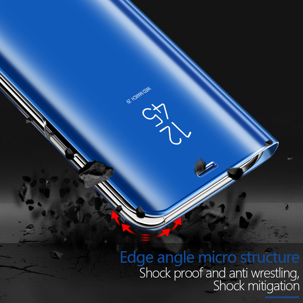 BAKEEY Mirror Auto Sleep Shockproof Protective Case For Xiaomi Mi A2 Lite / Xiaomi Redmi 6 Pro