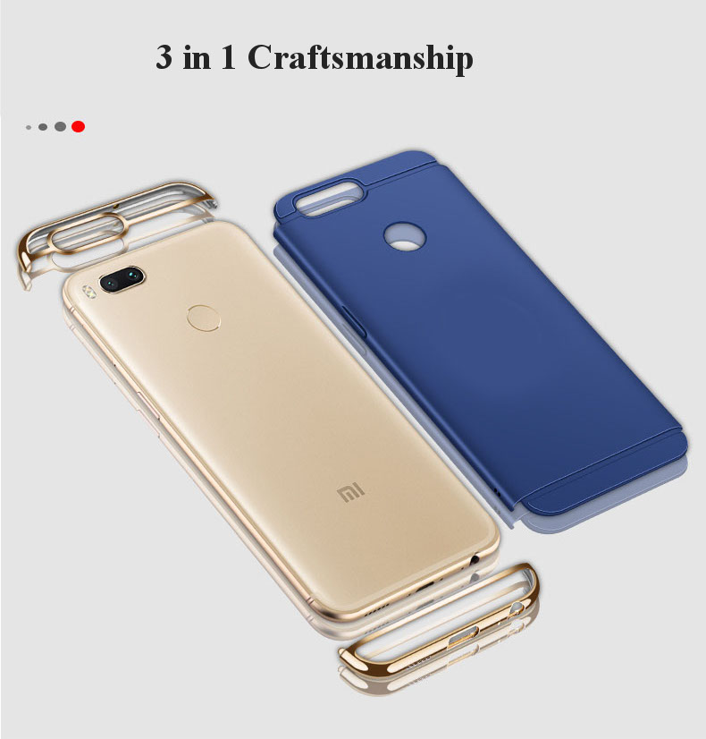 Bakeey Luxury 3 in 1 Plating Frame Splicing PC Hard Case For Xiaomi Mi A1/ Xiaomi Mi 5X