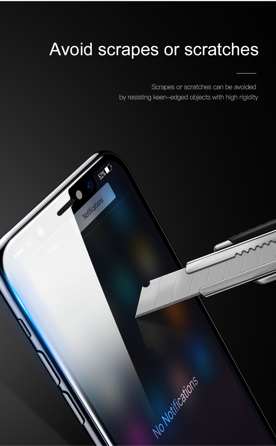 Bakeey 10D Curved Edge Cold Carving Tempered Glass Screen Protector For iPhone XS/X