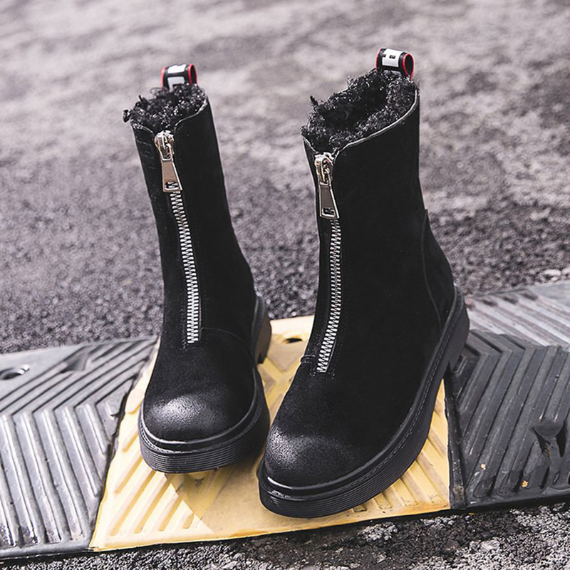 Women Casual Front Zipper Boots