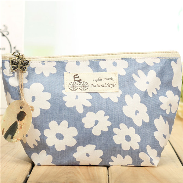 Travel Floral Makeup Bag Flower Cosmetic Holder Organizer Pouch