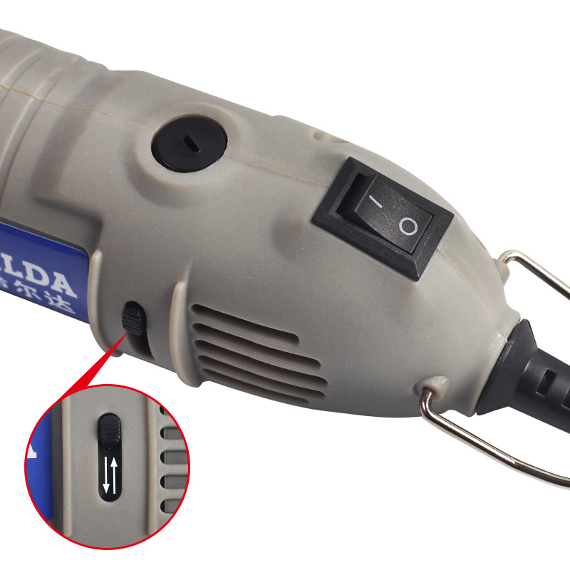 HILDA JD3323C 220V 150W Variable Speed Electric Grinder Mini Rotary Tool Drill with Power Switch