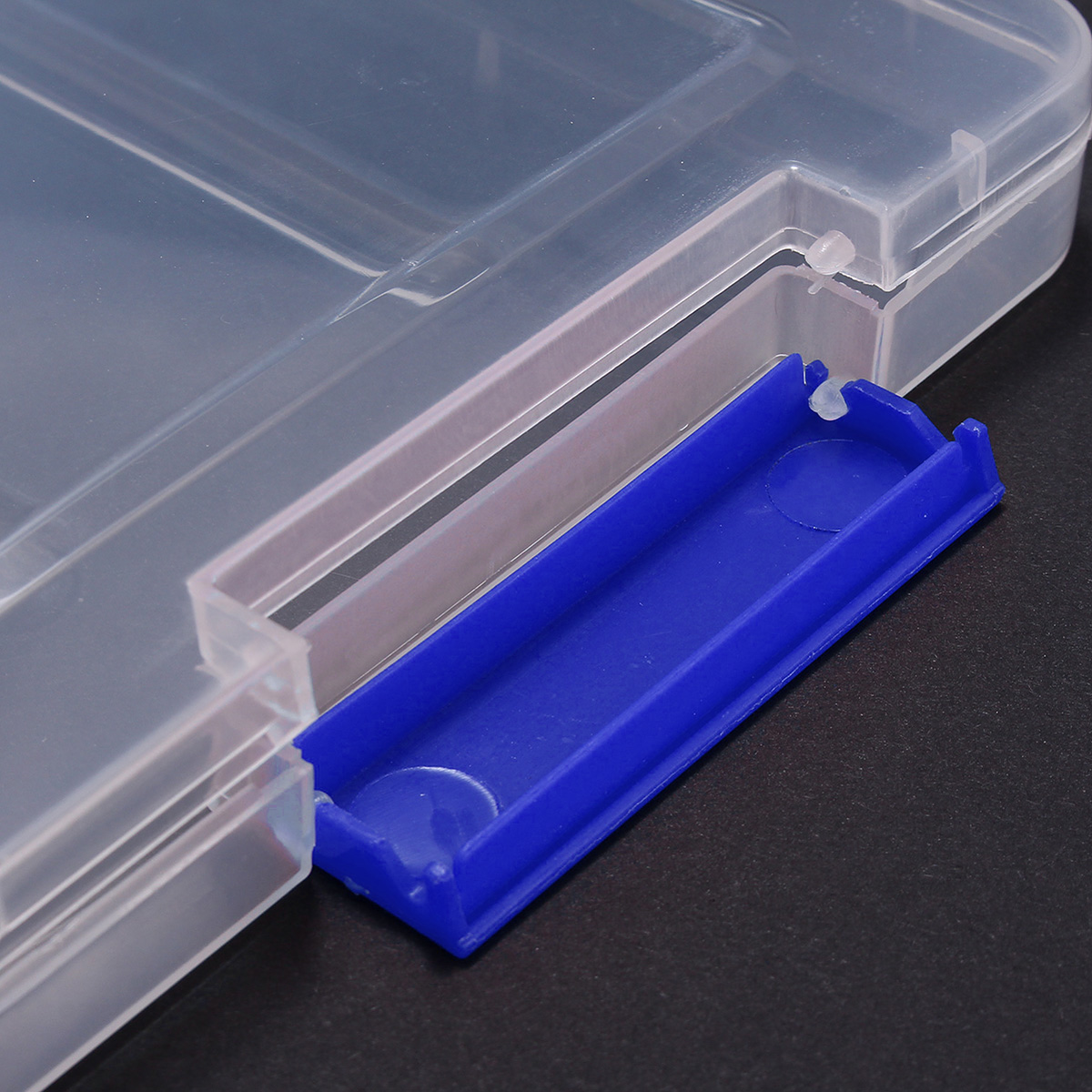 A4 File Storage Box Clear Plastic Document Cases Desk Paper Book Organizers Holders