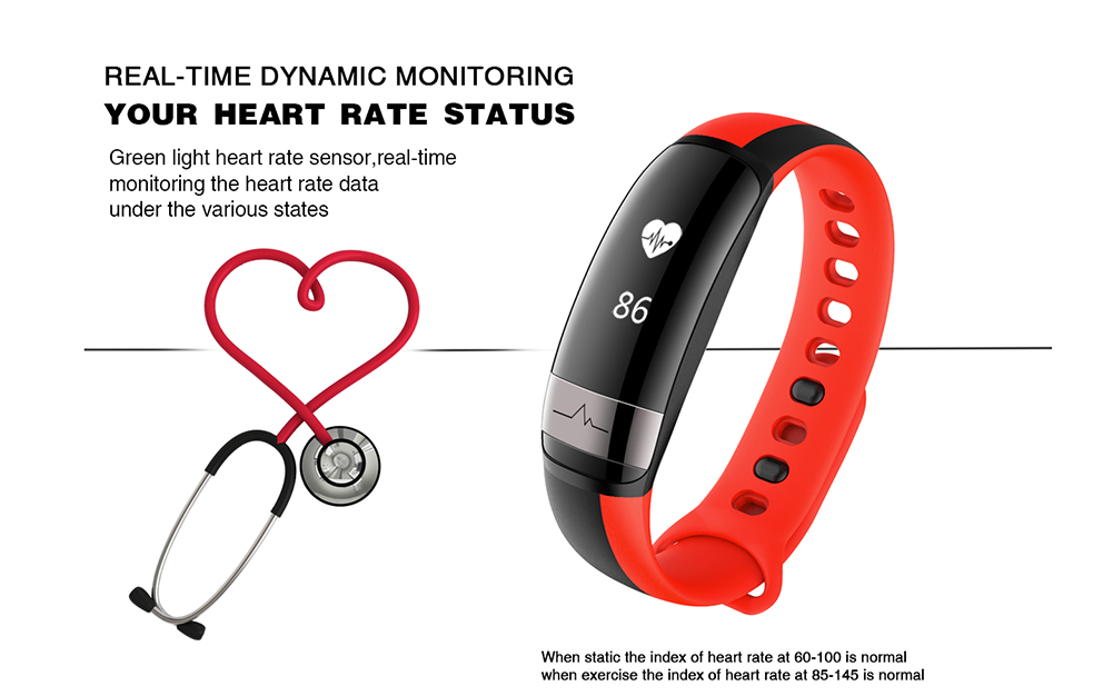 LYNWO M6 Blood Pressure Dynamic Heart Rate Sport Smart Bracelet Wristband for Samsung Xiaomi