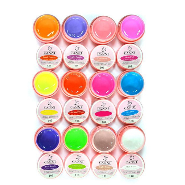 12 Pure Colors Nail Art UV Gel Polish Builder Extension Manicure Kit