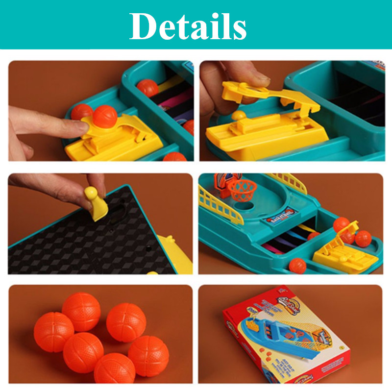 Children Mini Desktop Basketball Shoot Game Indoor Finger Table Ball Puzzle Toys