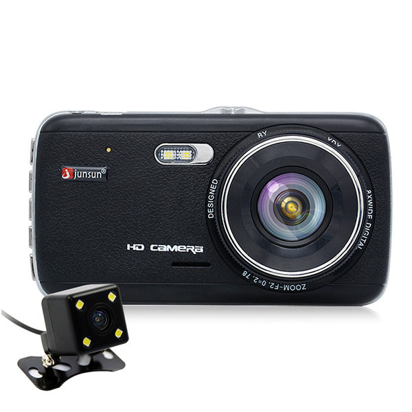 Junsun H6 4.0 Inch FHD 1080P Car DVR Dual Camera Video Recorder Night Vision Rear View