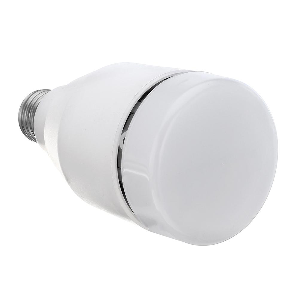 E27 7W RGBW Music Audio Bluetooth Speaker LED Light Smart Bulb With Remote Control AC100-240V
