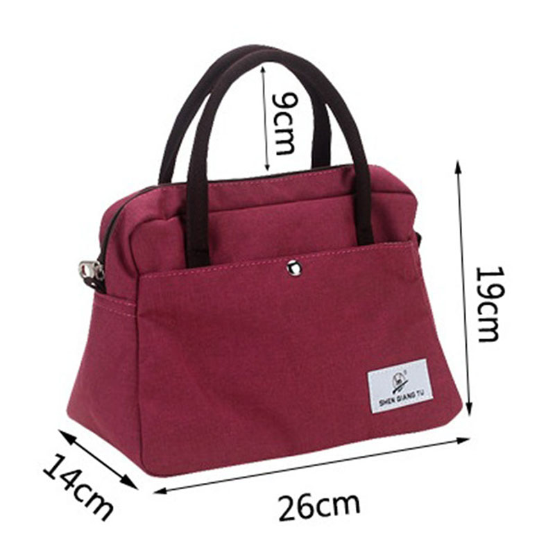 New Portable Lunch Bag Thermal Insulated Snack Lunch Box Carry Tote Storage Bag Travel Picnic Food P
