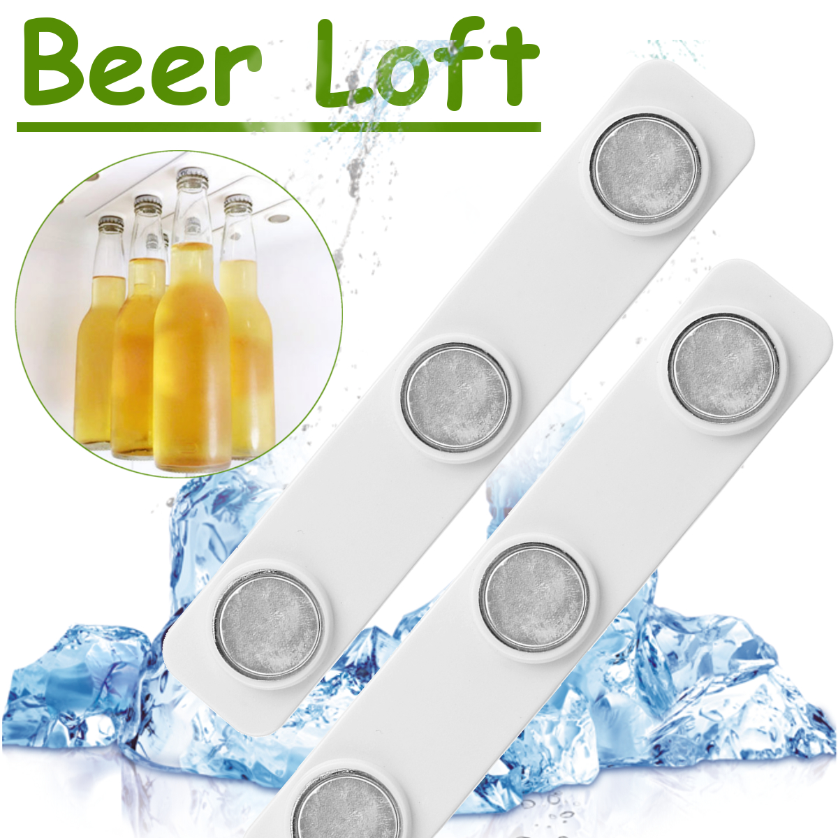 2Pcs Magnetic Bottle Hanger Holder Beer Cocktail Loft Fridge Refrigerator Jars Hanger Holder