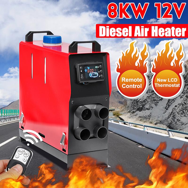 12V 8KW Car Diesels Air Parking Heater Car Heater LCD Remote Control