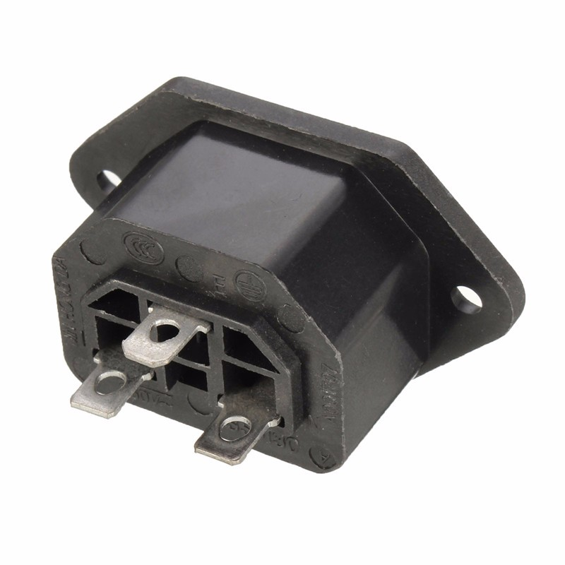 Excellway® Chassis Female 15A/250V AC IEC C13 C14 Inline Socket Plug Adapter Mains Power Connector