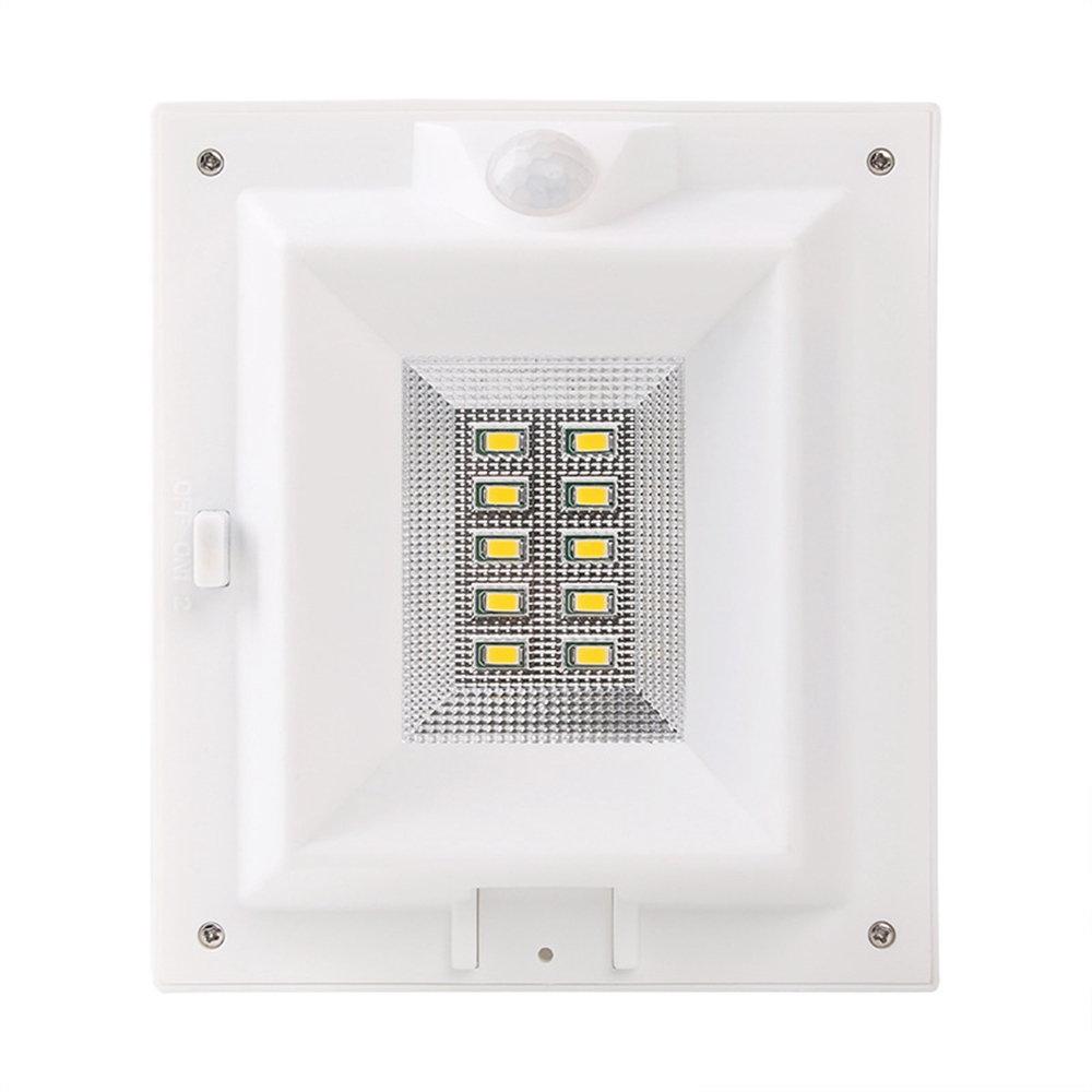 Waterproof 10 LED Outdoor Solar Powered PIR Motion Sensor Security Wall Light Mounting Pole Fit Home