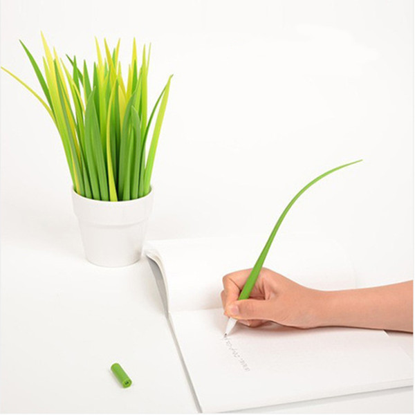 Creative Green Grass-blade Pen Cute Leaf shape Ball Point Pen