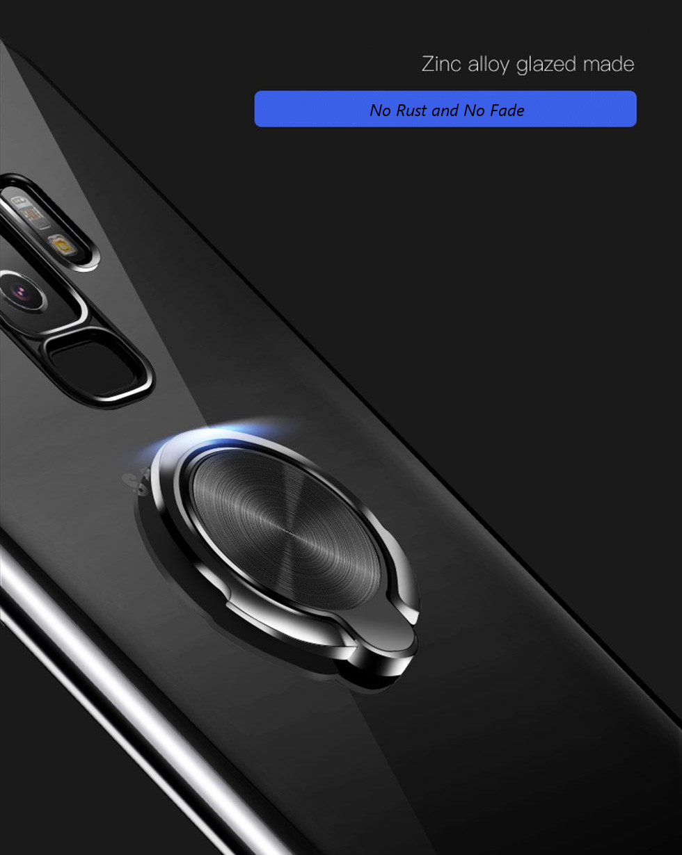 TOTU 360º Rotating Ring Bracket Plating Protective Case for Samsung Galaxy S9/S9 Plus