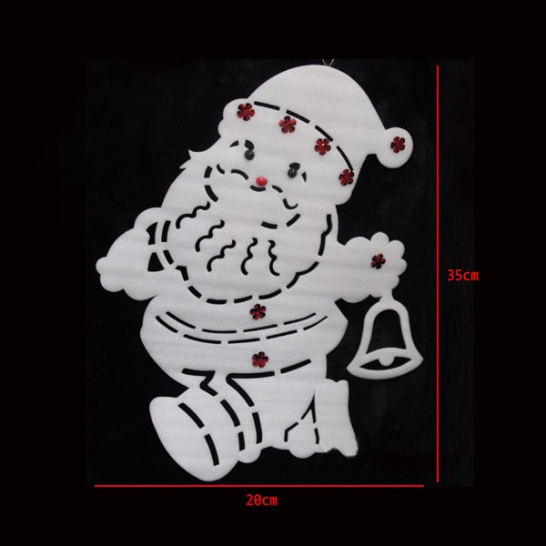 35X20cm White Santa Clause Window Decals Snowman Wall Sticker Christmas Tree Ornament