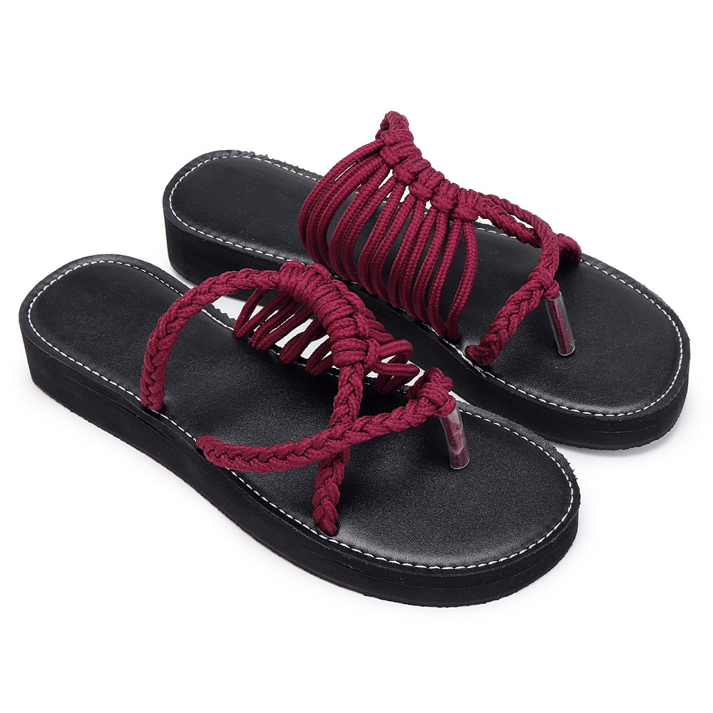 Roman Women Summer Oceanside Rope Flats Sandals