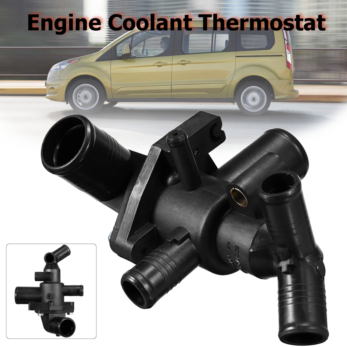 Engine Coolant Thermostat With Housing For Ford Transit 2006-2012