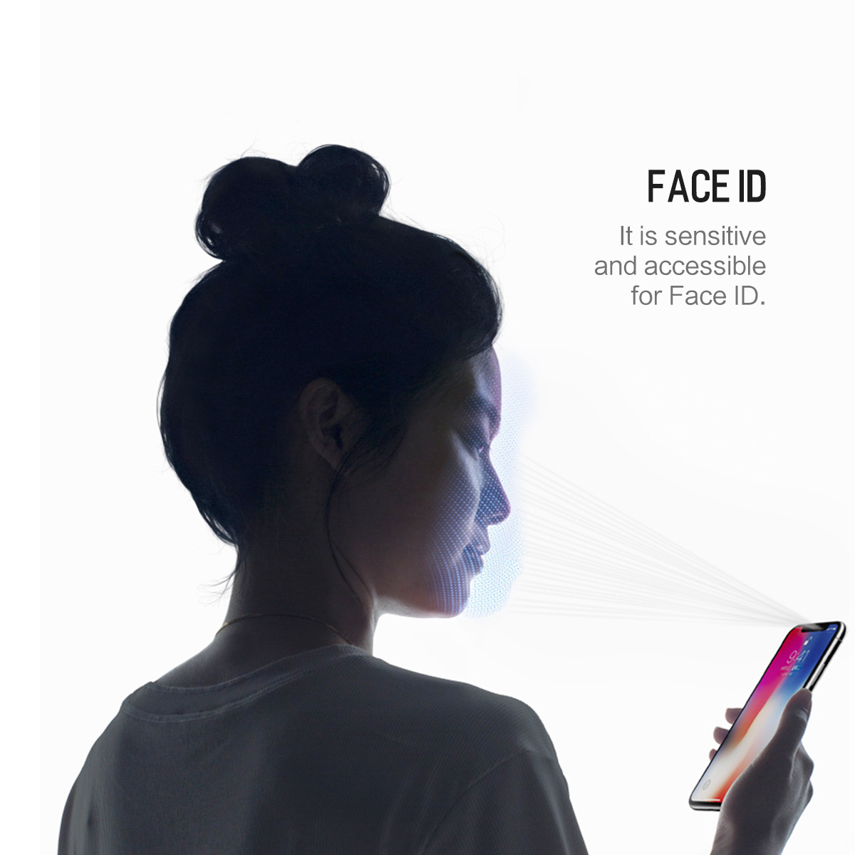 Rock 0.26mm Anti Blue Light 4D Curved Edge Tempered Glass Screen Protector For iPhone X