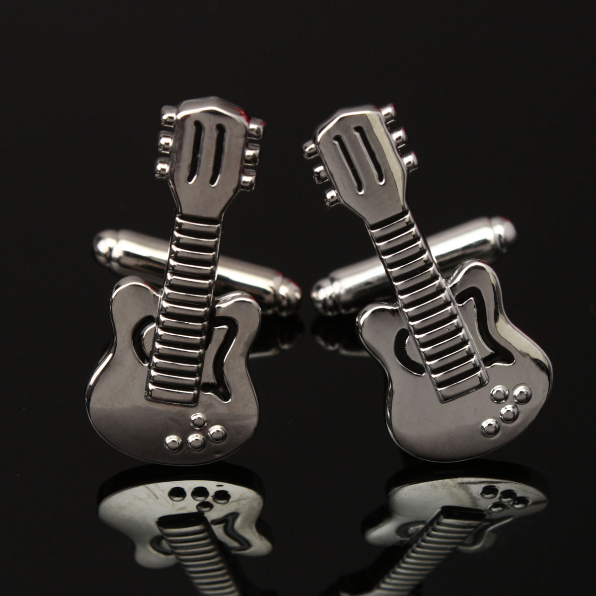 Men Male Silver Violin Musical Instrument Cuff Links Wedding Gift Suit Shirt Accessories
