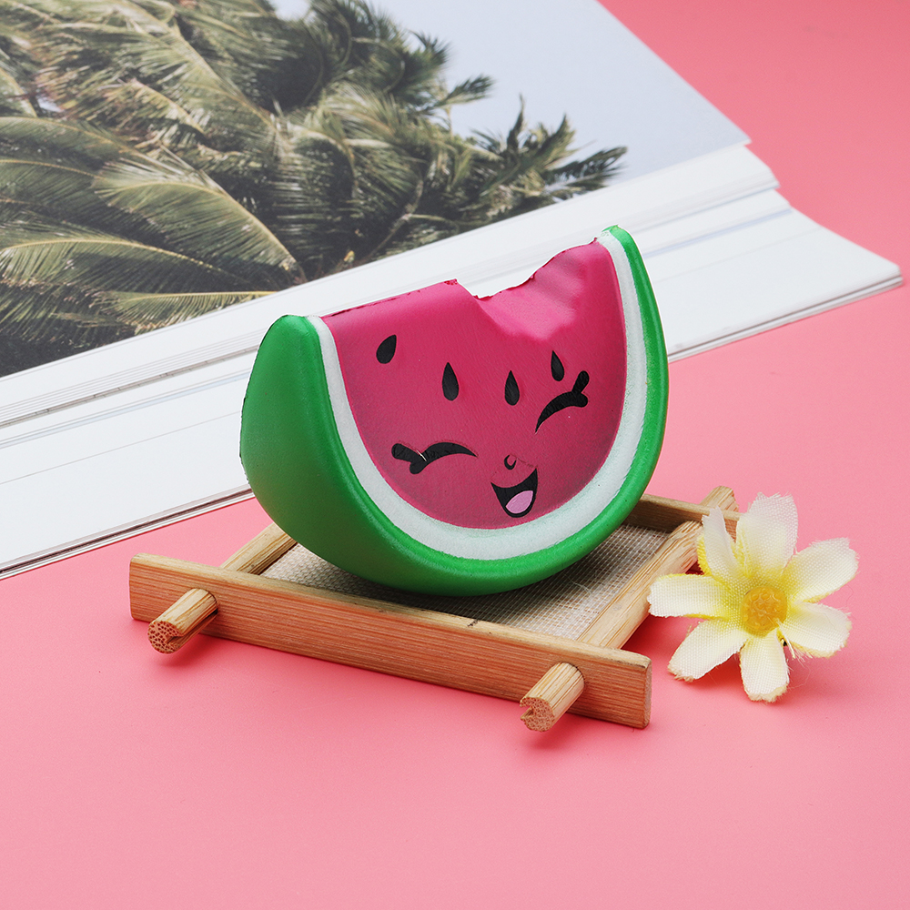 Meistoyland Squishy Mini Pink Smile Watermelon Fruit Squishy Slow Rising Toy Soft Mini Cute Toy
